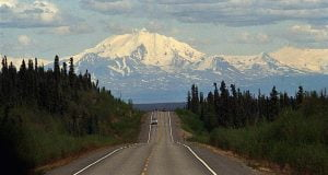 Glenn Highway and Mount Drum