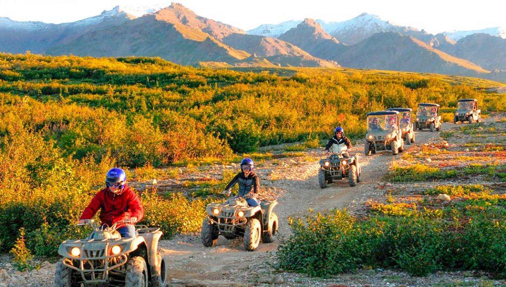 Denali ATV Adventures Riding in the sun