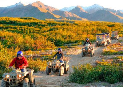 Denali ATV Adventures Riding in the sun