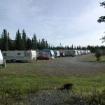 Gakona RV Alaska RVs In A Line