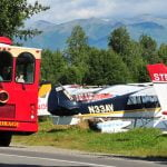 Anchorage-trolley-tour-passingbyairplanes