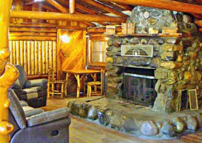 Ranch House Lodge fireplace