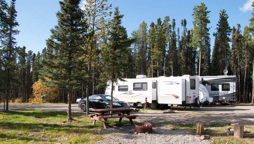 Pink Mountain Campsite Alongside Alaaska Highway