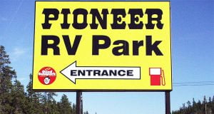 Pioneer RV Park Sign