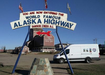 Dawson Creek, Mile zero of the Alaska Highway