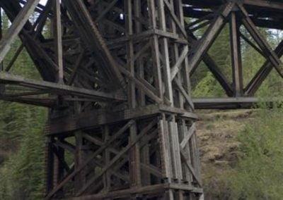 Kiskatinaw Provincial Park Wooden Trestle Bridge