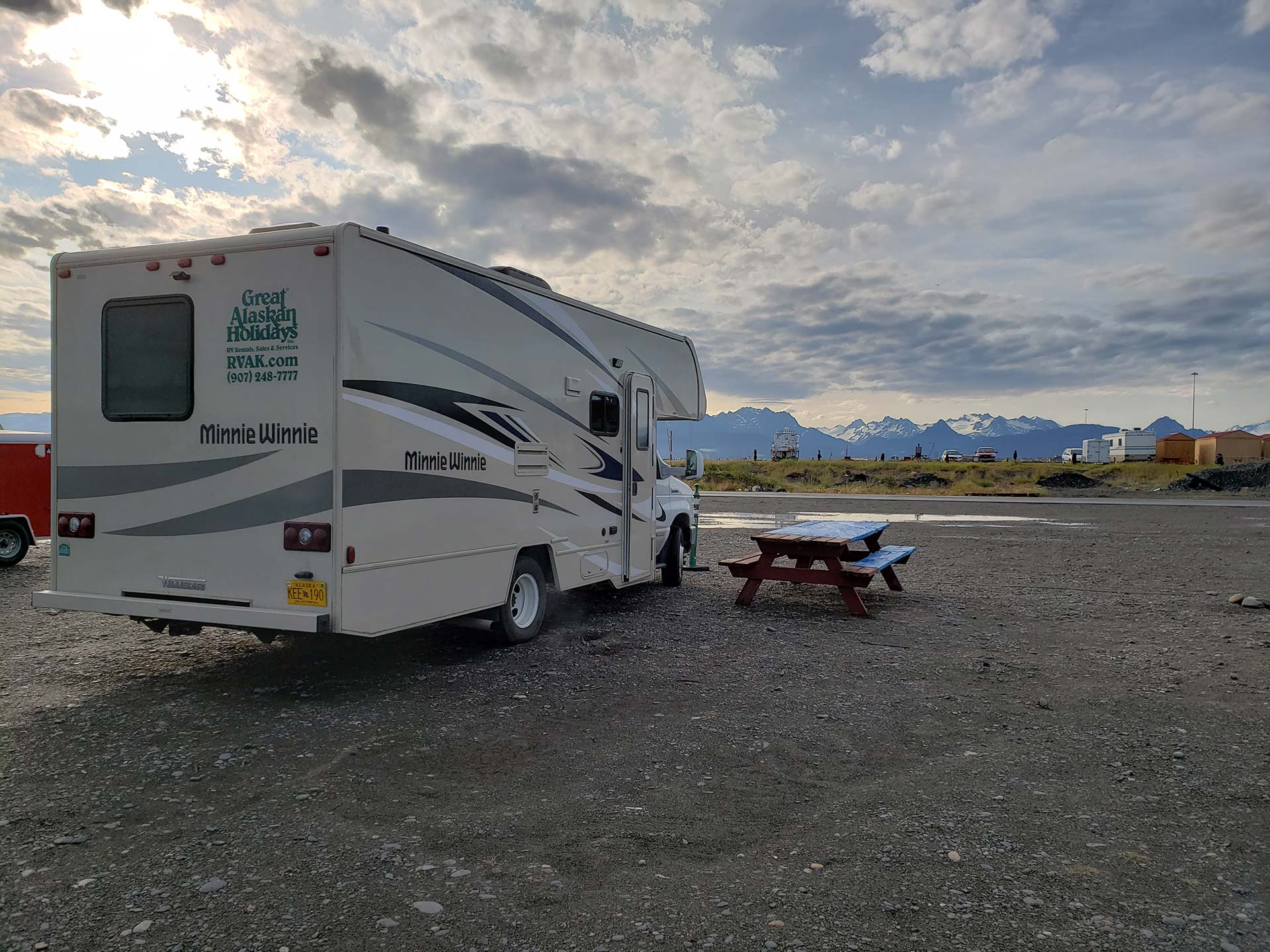 Camping at the Fishing Hole Campground in Homer by Susan Sasse