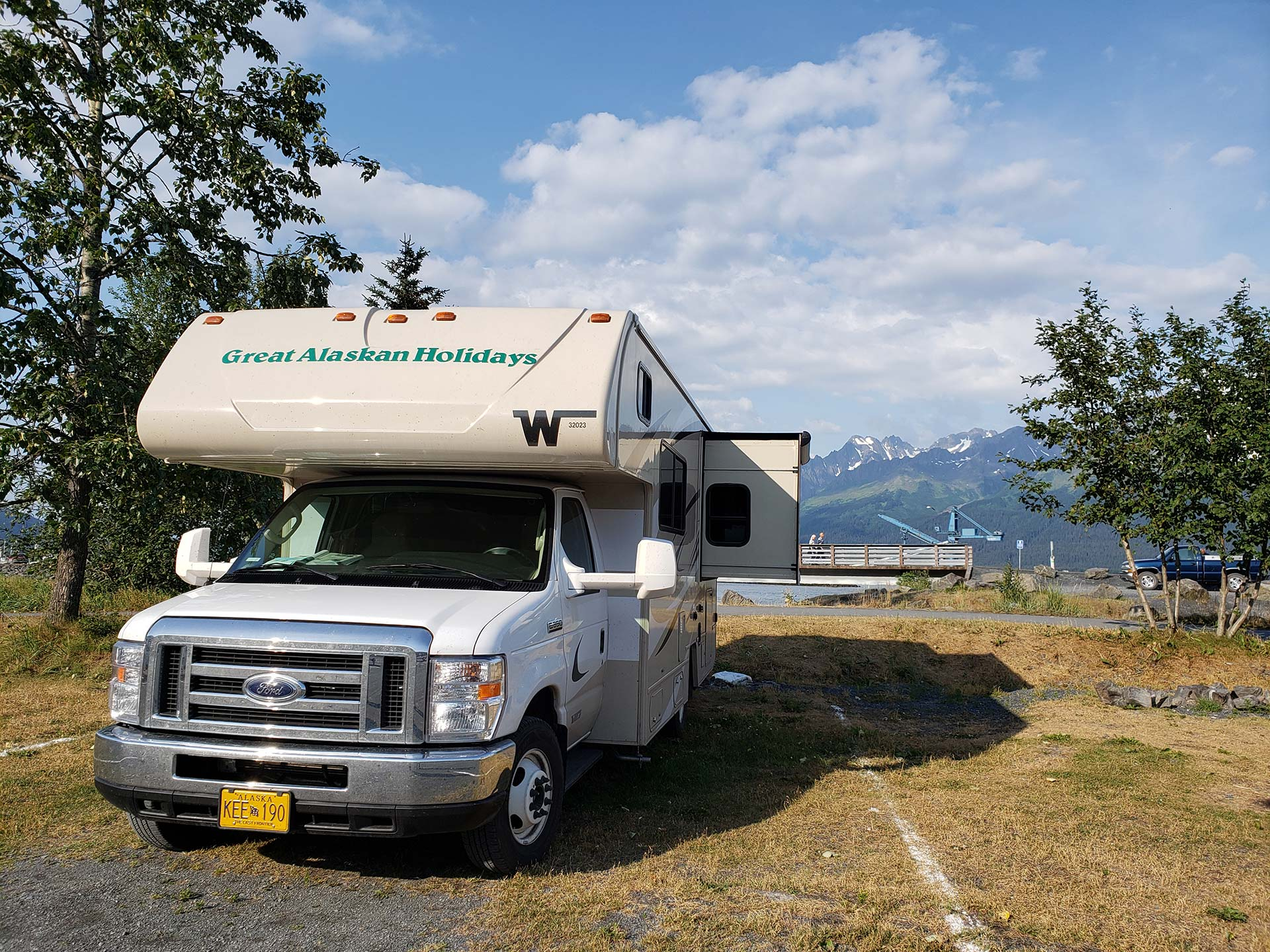 Camping at the City of Seward Campground by Susan Sasse