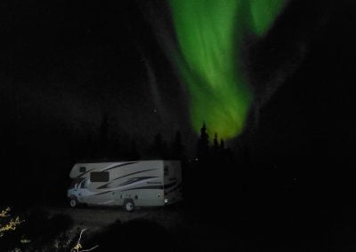 RV in The Northern Lights by Melissa Bierer
