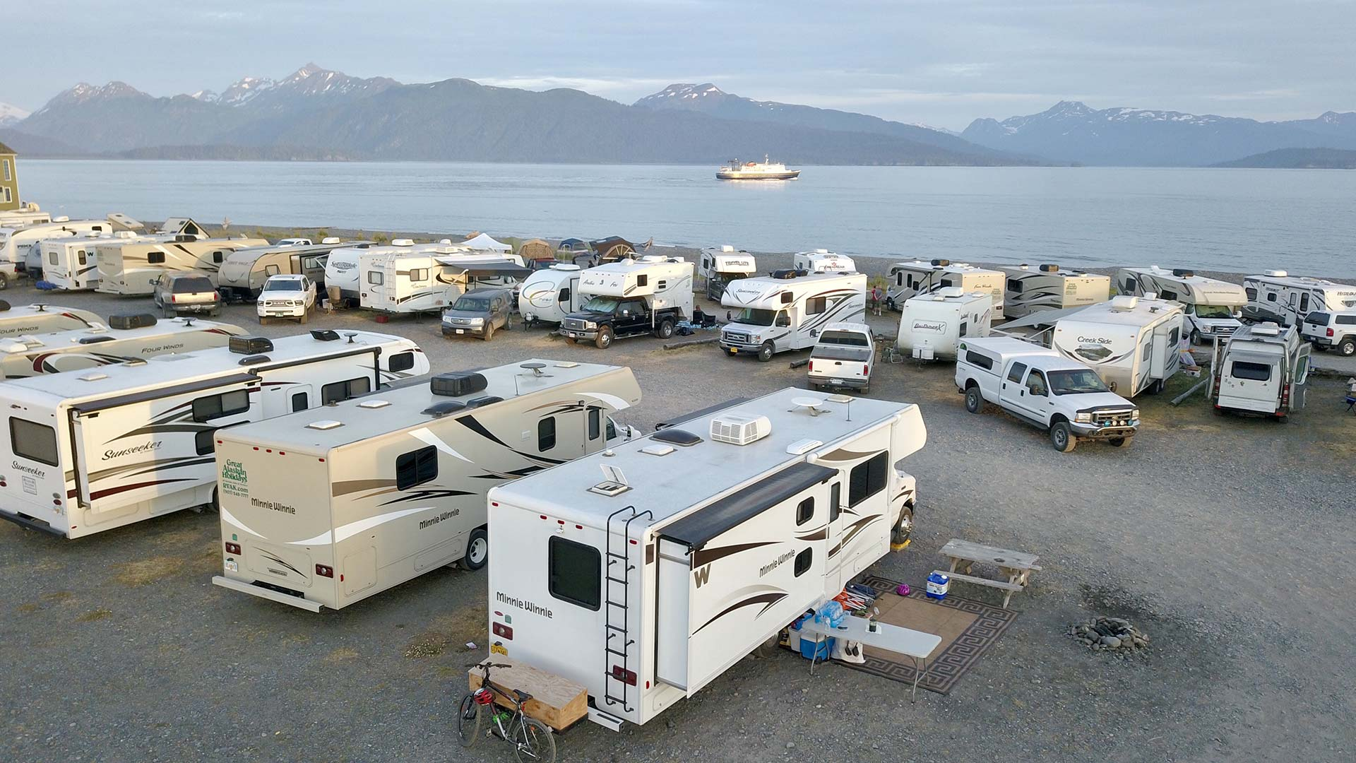 Off to Sea at Homer Spit Campground by Kevin Palmatier
