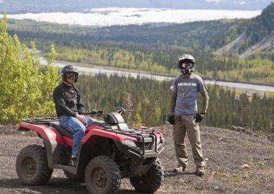 Glacier View ATV Adventures with Matanuska glacier in the background