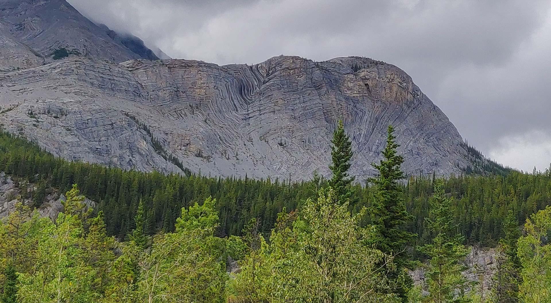 Folded Mountain, Alaska Highway