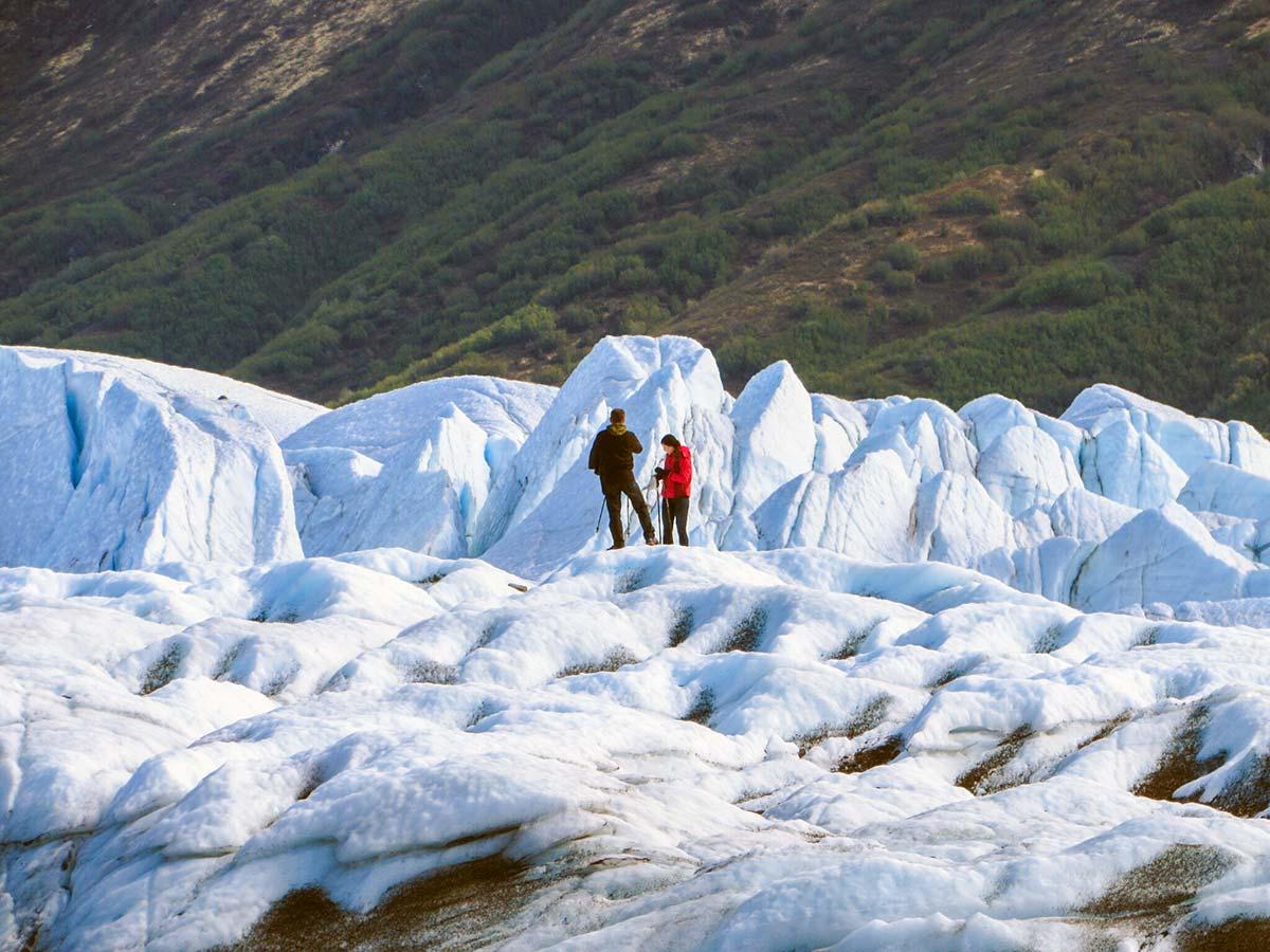 You can go for a walk on the Matanuska Glacier!