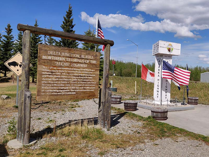 Delta Junction end of the Alaska Highway Monument