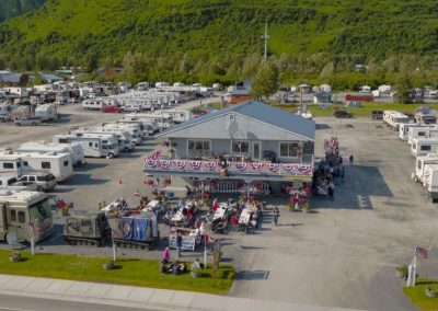 Aerial photo showing the RV Park and the office