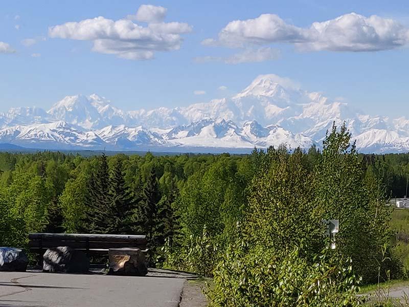 View of Denali, just before entering Talkeetna, Alaska